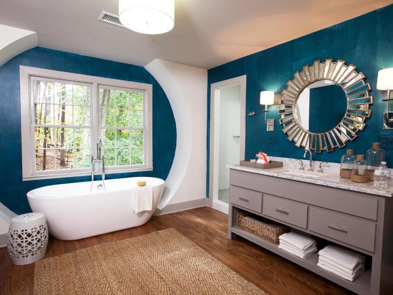 смена декора ванной комнаты